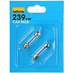 image of Halfords 239 C5W Car Bulbs x 2
