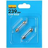 Halfords (HBU239) 5W Car Bulbs x 2