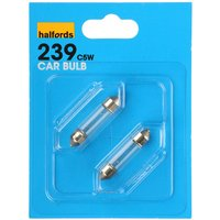 Halfords (HBU239) 5W Car Bulbs x 2