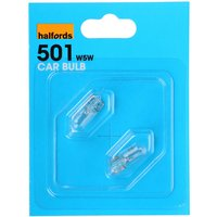 Halfords 501 W5W Car Bulbs x 2