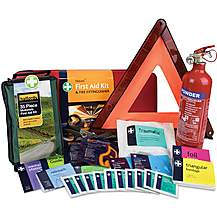 image of First Aid, Warning Triangle & Fire Extinguisher Kit