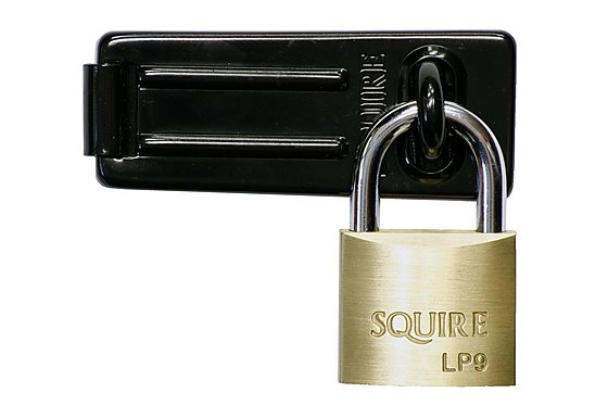 Squire Solid Brass Padlock & Hasp Set
