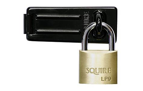 image of Squire Solid Brass Padlock & Hasp Set