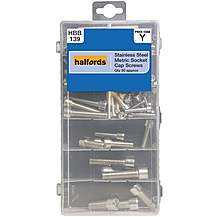 image of Halfords Assorted Stainless Steel Socket Cap Screws