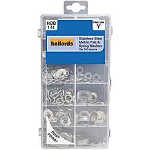 image of Halfords Assorted Stainless Steel Flat & Spring Washers