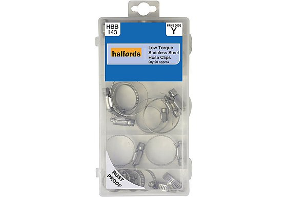 Halfords Assorted Stainless Steel Hose Clips