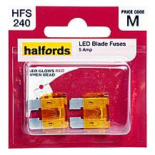 image of Halfords LED Blade Fuses 5 Amp