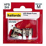 image of Halfords LED Blade Fuses 7.5Amp