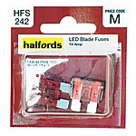 image of Halfords LED Blade Fuses 10 Amp