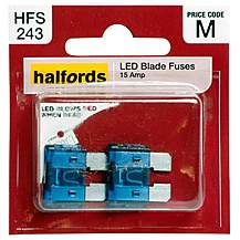 image of Halfords LED Blade Fuses 15 Amp