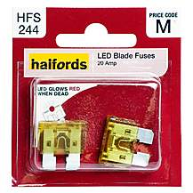 image of Halfords LED Blade Fuses 20 Amp