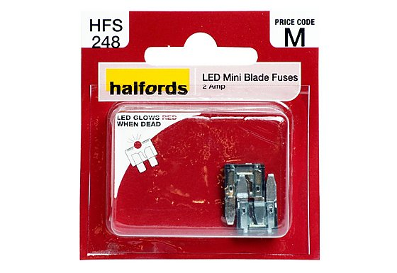 Halfords LED Mini Blade Fuses 2 Amp