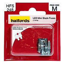 image of Halfords LED Mini Blade Fuses 2 Amp