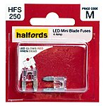 image of Halfords LED Mini Blade Fuses 4 Amp