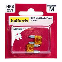 image of Halfords LED Mini Blade Fuses 5 Amp