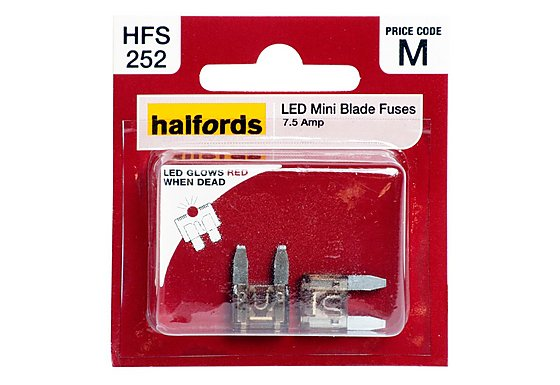 Halfords LED Mini Blade Fuse 7.5 Amp