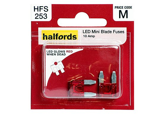 Halfords LED Mini Blade Fuses 10 Amp