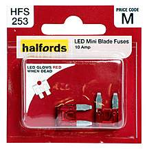image of Halfords LED Mini Blade Fuses 10 Amp