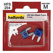 image of Halfords LED Mini Blade Fuses 15 Amp