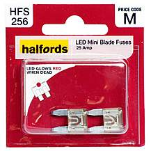 image of Halfords LED Mini Blade Fuses 25 Amp