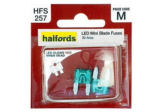 Halfords LED Mini Blade Fuses 30 Amp