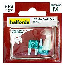 image of Halfords LED Mini Blade Fuses 30 Amp