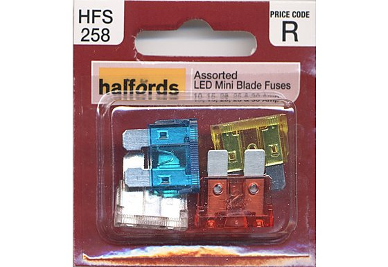 Halfords Assorted LED Mini Blade Fuses