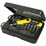 image of Stanley 25 Piece Ratchet Screwdriver Set