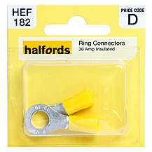 image of Halfords Ring Connectors 30 Amp Insulated