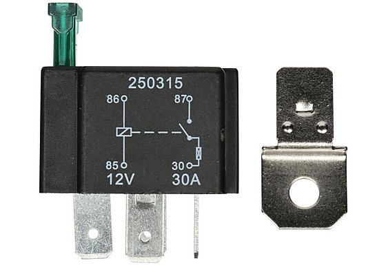 Halfords HEF553 Relay 12V 30A 4 PIN