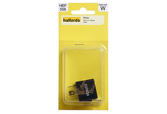 Halfords HEF556 Relay 12V 2 x 15A 5 PIN