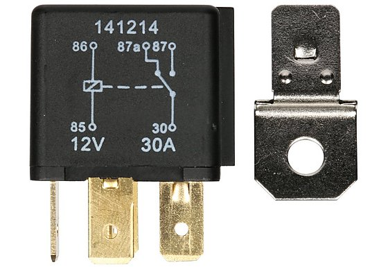 Halfords HEF558 Relay 12V 2 x 30A 5 PIN