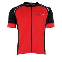 Boardman Mens Short Sleeve Cycling Jersey - Red & Black, Large