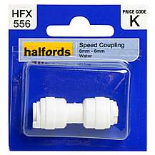 image of Halfords Speed Coupling 6mm-6mm Water