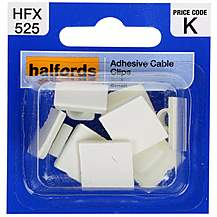 image of Halfords Adhesive Cable Clips
