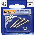 image of Halfords Set Screws and Nuts M4 x 25mm