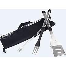 image of Halfords 3 Piece BBQ Metal Utensil Kit