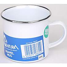 image of Aventura Enamel Mug - White