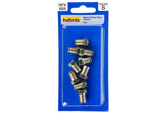 Halfords Brake Pipe Unions Metric Male