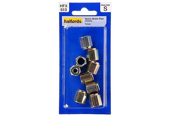 Halfords Brake Pipe Unions Metric Female