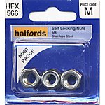 image of Halfords Self Locking Nuts M8