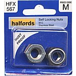 image of Halfords Self Locking Nuts M10