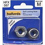 image of Halfords Self Locking Nuts M10