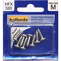 image of Halfords Cross Head Screws 3.5mmx13mm