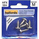Halfords Cross Head Screws 4.8x13mm