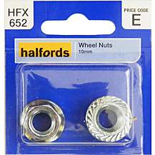 image of Halfords Wheel Nuts 10mm