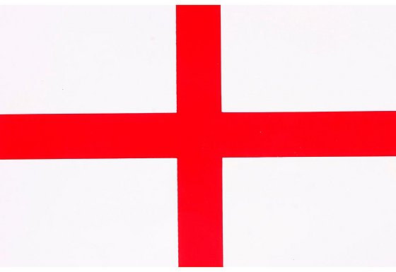 England Flag Car Sticker - Medium