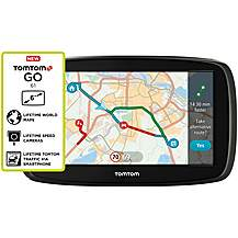 "image of TomTom GO 61 6"" Sat Nav with MyDrive & Lifetime Traffic & Lifetime World Maps"