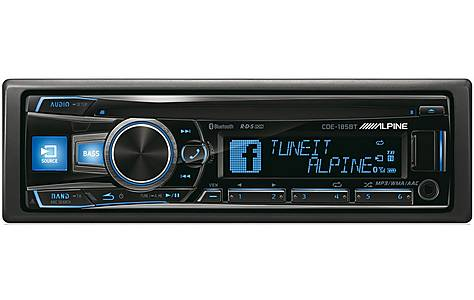 image of Alpine CDE-185BT Car Stereo with Advanced Bluetooth