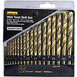 Halfords 19 piece HSS Twist Drill Set